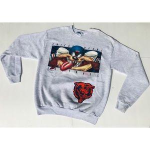Vintage 1997 Looney Tunes Chicago Bears Sweatshirt
